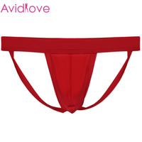 Cheap 1603 3pcs lot Avidlove Sexy thongs and g strings mens Hollow Out Strap Thongs Briefs jockstrap gay men underwear