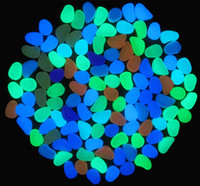 Cheap Wholesales Popular Solar Glow Stone for Garden, Simulation Lightweight Luminous Pebble Stone Phosphorescent cobbles Fish Tank Decoration