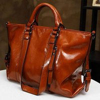 large handbags - 2015 New Fashion Handbags Ladies Shoulder Bags Womens Vintage Genuine Leather Cowhide Large Handbags Shoulder Shopper Bags Tote