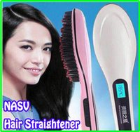UK mixed color Under $30 Beautiful Star NASV Fast Hair Straightener HQT-906 Style Straight Hair Care Styling Tool Flat Iron With LCD Electronic Temperature Controls