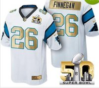 Wholesale Cheapest SUPER BOWL th L Panthers Men Football Jerseys Finnegan Elite Limited Game Custom Stitched White