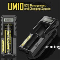 Wholesale 2015 Nitecore UM10 Charger Intelligent Chargers LCD display for Li ion IMR Battery RCR123 free DHL