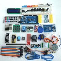 al por mayor motores ultrasónicos-Envío libre mega 2560 r3 motor del kit del arrancador servo RFID Ultrasonic Ranging relay LCD for arduino