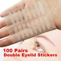 achat en gros de oeil double parole-Grossiste - 100 paires Eye Talk double paupière technique Eye Tapes Makeup autocollants HB88