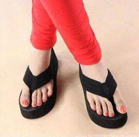 Wholesale Wedge Platform Thong Flip Flops Summer Girls Sandals Shoes Beach Casual Slippers order lt no tracking