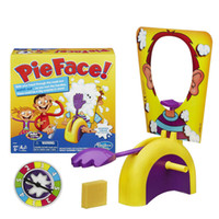 Wholesale 2015 Pie Face Game toys Korea Running Man Pie Face Cream On Her Face Hit The Send Machine Paternity Toy Rocket Catapult Game Consoles xmas