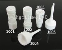 Wholesale 14mm mm domeless ceramic nail with male joint we also offer GR2 titanium nail domeless titanium nail titanium dabble vs Titanium nail