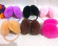 Wholesale Christmas Promotion Women Backphones Warm Plush Winter Earmuffs Ear Muffs Cute Candy Color Girls Ear Covers
