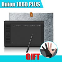 Wholesale Upgraded Pro Version Huion Plus Graphic Drawing Digital Tablet Card Reader G SD Card LPI Express Keys Bag Glove
