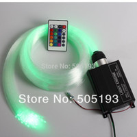 Wholesale RGB LED Fiber Optic Star Ceiling Light Kit M mm optic fiber W LED RGB Light Engine Key IR Remote