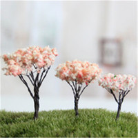Wholesale Beautiful Moss Fleshy Micro Mini Cherry Tree Decorative Landscape Landscaping Wire Blooms DIY Accessories Material