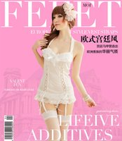 Cheap Three sexy lingerie chest a playful perspective baby vest chiffon lace open crotch sexy low-cut sexy nightwear