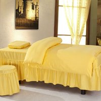 Wholesale 2014 Sale Rushed Solid Fitted Bedspreads Couvre Lit free Beauty Bedspread Piece Set Care Massage Spa Bed Customize