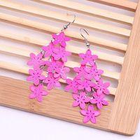 american levels - Flower Dangle Earrings For Women New Fashion Small Fresh Flowers Drop Earring Multi Level Environmental Jewelry Colors Mix