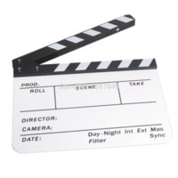 bean board - Mini Acrylic Clapboard Dry Erase Director TV Film Movie Clapper Board Slate S S9 board blue board bean