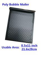 Precio de Acolchada electrónico-[PB # 811] - Negro 8.5X11inch / 216X280MM utilizable espacio Polivinílica envoltura de correo sobres acolchados Mailing Bag Self Sealing [50pcs]