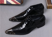 Wholesale Fashion new Men s leather shoes genuine leather men shoes wedding dress shoes men oxfords pointed toe lace black color