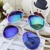 Cheap 2015 Low price mercury reflective sunglasses yurt children boys and girls to wear glasses with case sunglasses sunshades A071008