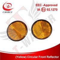 eec electric scooter - High Quality EEC approved Scooter Electric Bike ATVs and Pit Bikes Front Reflector with Yellow Color