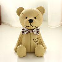 bear piggy bank - FBH031611 Cute teddy bear piggy bank Change Creative ceramic save money box