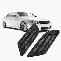 Wholesale 2 pieces Car Side Air Flow Vent for Fender Hole Cover Intake Grille Duct Decoration ABS Plastic Sticker