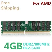 Wholesale New GB DDR2 PC2 MHz For Desktop PC DIMM Memory RAM pins For AMD System High Compatible