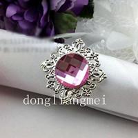 Wholesale 100pc High Quality White Gem Napkin Ring Wedding Bridal Shower J148