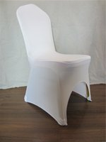 Wholesale PC White Chair Cover Elastic Polyester Spandex Chair Cover For Wedding Banquet Chair Cover