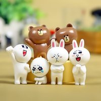 Wholesale Zakka Set Hot Sale Rabbit Bear Wink Expression Doll Keychain DIY Micro Landscape Succulents Moss Gardening Landscaping Decoration