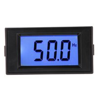 Wholesale 10 Hz Blue LCD Digital Frequency Panel Meter Gauge Cymometer Electrical Instruments
