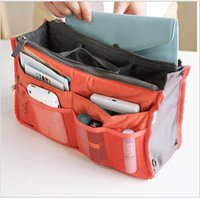 Wholesale 13 Colors Make up organizer bag Women Men Casual travel bag multi functional Cosmetic Bag storage bag in bag Handbag WB24