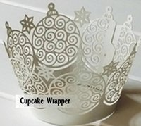 Wholesale New Laser Cut Cupcake Wrapper Cake Liners Decorating Boxes Cup Tools For Wedding Baby Shower Birthday Christmas Decoration Supplies KB001