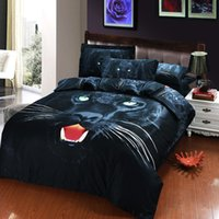 Wholesale 2015 Fashion D printed Oil painting Bed in a bag Cotton Bedding set Queen size Wolf Flat sheet Pillow case Quilt cover Duvet cover