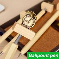 novelty pens - 20 Wood Ballpoint pens Vintage Brass Clock TV Stationery ballpen Caneta Novelty pen gift Office school supplies