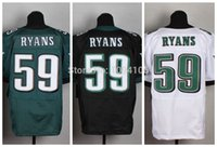 authentic ryans - Factory Outlet New DeMeco Ryans Black Green White Elite Jersey New Authentic Stitched Elite Football Jerseys Top Quality Mix Order