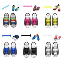 Wholesale 16PCS PAIRS Brand coolnice top quality men women silicone shoe laces no tie shoelaces for all size sneaker sandals runningshoes free shippin