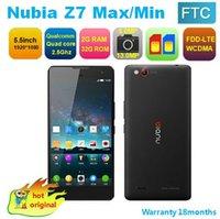 Wholesale ZTE Nubia Z7 Mini Max G LTE Mobile Phone Qualcomm MSM8974AA GHz quot FHD x1080 GB RAM GB MP Camera WCDMA Dual SIM