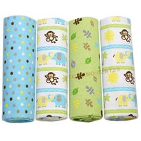 Wholesale 4Pc Pack Multifunctional High qualitycotton soft flannel receiving blanket Baby blanket swaddl newborn baby blanket cm