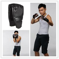 Wholesale Hot selling Pair PU Leather Punching Bag Boxing Gloves Half Mitten MMA Muay Thai Training Punching Sparring Fitness Mitts
