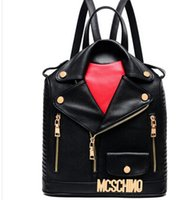 Cheap fashion European and Amenrican style fashion black leather clothing women PU leather double-shoulder backpack