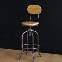 bar stools - industrial loft style wrought iron bar stools wood bar chair lift Elm rotation spot retro bar stool bar stool