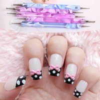Wholesale 5PCS Way Marbleizing Dotting Manicure Tools Painting Pen Nail Art Paint Set L014151 order lt no tracking