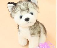 small stuffed animals - super cute plush animal toy small dog gray husky stuffed toy birthday gift cm free shiping n0908