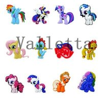 shoe charms - New Arrival My little Pony horse PVC Shoe Charms Mixed models Kids best Toy Gift Shoe Accessories Charm Decoration