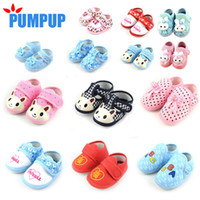 Wholesale New Cotton Lovely Baby Shoes Toddler Soft Sole Skid proof First Walkers Kids infant Shoes Boys girls first walker shoes Multi Colors