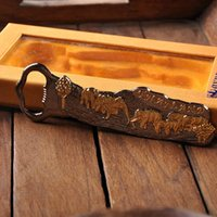 Wholesale A Southeast Asian style unique creative carved elephant pattern special iron bottle opener for birthday Valentine s day father s day as a