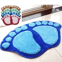 bath portrait - Anti Slip Soft Cute Bath Mat Door Carpet Bathroom Floor Mat Rug Big Feet Style Mats X40CM Colors
