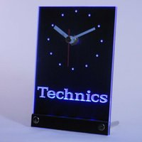 antique turntables - tnc0434 Technics Turntables DJ Music Table Desk D LED Clock