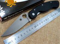 Wholesale Best quality Spyderco C36 military folding knife CPM S30V pocket C36 knife G10 Black handle white blade