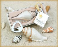 beach memories - 100 pieces Wedding Gifts of quot Shore Memories quot Sea Shell Bottle Opener For Beach wedding favors and Party favor Free shiping
